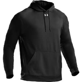 UNDER ARMOUR TEAM FLEECE HOODY POLY SWEATSHIRT 1229505 BLACK RED GREY