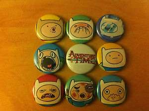set of 9 1 pins pinback buttons Finn and Jake Fionna Marceline