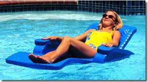 New Unsinkable Foam Swimming Pool Chaise Lounge Float
