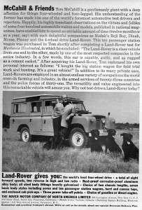 1960 Land Rover Series II Original Ad