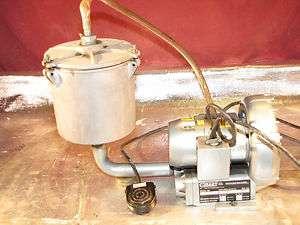 Gast Regenair Model R1102C 14 Vacuum Pump and Collection Chamber
