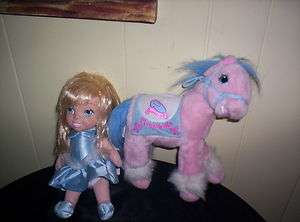 SET PLUSH CINDERELLA DOLL AND HORSE