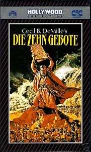 VHS    Die Zehn GEBOTE  (1956)   Charlton HESTON   John DEREK