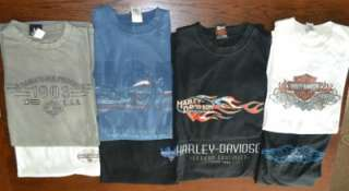 LOT of 8 Mens Genuine HARLEY DAVIDSON T  Shirts Size 2XL XXL~EXCELLENT