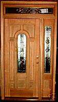 Solid Wood Entry Door w/ Sidelight & Transom AT