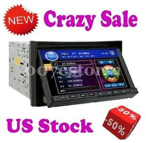 LCD Touch Screen DVD/CD/SD/USB Car Deck Player RDS Radio 2 Din