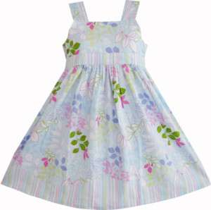 Children clothes summer girls dress 4 5 6 7 8 9 10 new