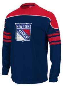 New York Rangers Reebok Shootout Long Sleeve T Shirt sz Large