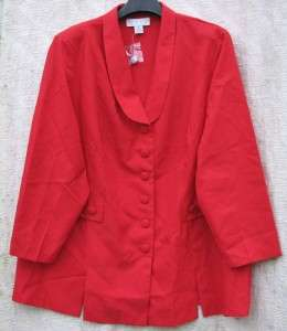 Red 30 TALL Allison Woods NWT Jacket/Pants Career Offfice SUIT $5.50