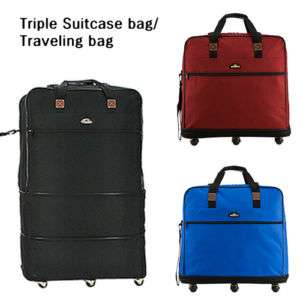 Traveling Bag Luggage Big Trunk NWT Blue (bt06)