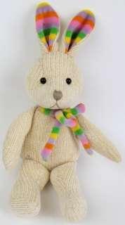 Rich Knit Plush Bunny Rabbit Rainbow Ears & Scarf