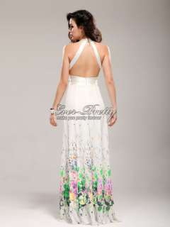 Print Charming Bridal Open Back Rhinestone Fashion Gowns 09291WH