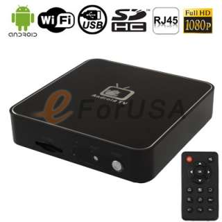 1080P Full HD Google Android 2.3 TV Set Top Box WIFI Use Your TV as a