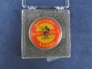 Official Mickey Mouse Store Pin 1937 Walt Disney Rare