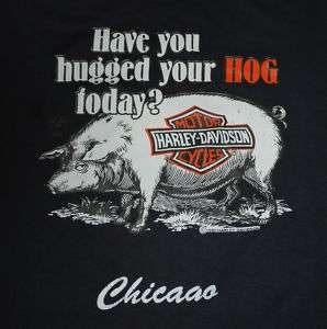 VTG HARLEY DAVIDSON HUGGED YOUR HOG SHIRT 1982 M