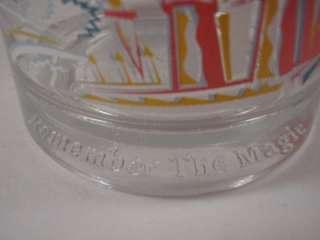 Disney World 25th Anniversary Glass Donald Duck Beverage Juice
