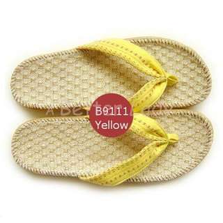 Bamboo Fiber Womens Flip Flops Sandals B9111 Yellow