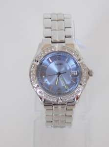 NEW AUTHENTIC GUESS SILVER SWAROVSKI Crystal LADY WATCH U75040L1 with