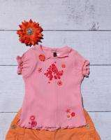 OMG~Catimini~Urban Global Outfit ~Birds~Orange~Sz.6/9M