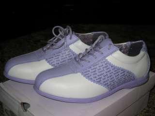 WHITE LAVENDER purple Parasol Fiona Golf shoe Women NEW