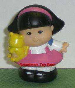Fisher Price Little People Girl Pink SONYA LEE w/ CAT