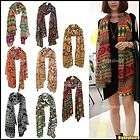 Scarf Blue Knit Chain Link Pattern Long Soft Wrap Unique Design