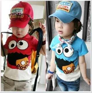 New Baby Toddler Kids Boys T Shirt Top Cartoon Sesame Street Size 3T 6
