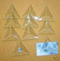 Solder Jewelry (30) Clear Glass TINY   2 inch TRIANGLES