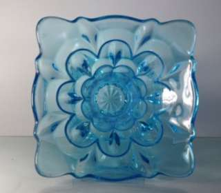 Large Bagley 2832 SALISBURY vase sky blue Uranium glass Art Deco