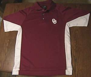 OU OKLAHOMA SOONERS polo SHIRT golf PRO PLAYER 2 MENS small S