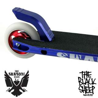 SHADOW LTD CUSTOM FREESTYLE EXTREME STUNT SCOOTER BLUE/RED HAND BUILT