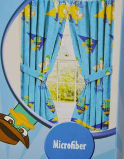NEW DISNEY PHINEAS & AND FERB WINDOW CURTAINS DRAPES