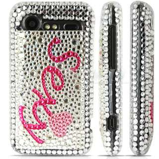 PINK SEXY CRYSTAL BLING CASE COVER FOR HTC INCREDIBLE S