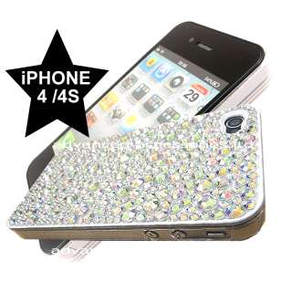 FOR APPLE iPHONE 4 4G 4S CLEAR DIAMOND HARD CRYSTAL CASE BLING