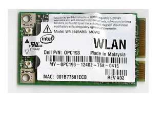 Dell PC193 WLAN WiFi Wireless Mini PCI Express Card
