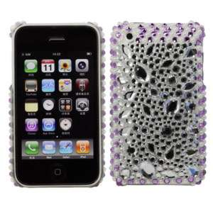 CUSTODIA COVER CASE DIAMOND STRASS PIETRE PER IPHONE 3G