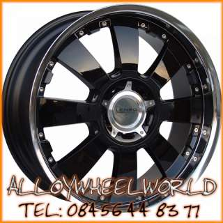Lenso Concerto BKM 8.5x18 Alloy Wheels in Black & Polis