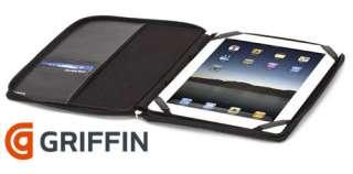 GRIFFIN BLACK EXECUTIVE PASSPORT LEATHER FOLIO CASE COVER FOR iPAD 2