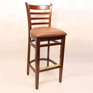 Factory Direct 7234H CHBR Ladder Back Four Bar Stool ( Set