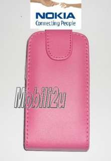 Flip Leather Case Pink Cover Pouch For Nokia X2 01 X201
