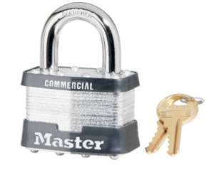 Master Lock 2 Laminated Padlock Key #A445