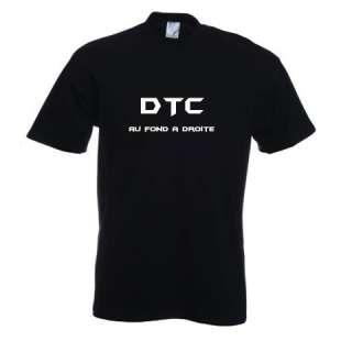 T Shirt noir homme DTC au fond a droite TM TL TXL TXXL