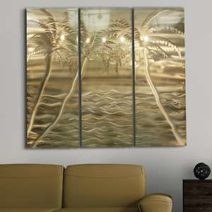 Tropical Abstract Metal Wall Art Office Painting Decor Private Oasis