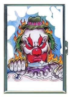 Evil Clown Hard Luck Knife Art ID Holder, Cigarette Case or Wallet
