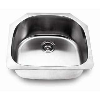 Fontaine D Shape Bowl Stainless Steel Kitchen Sink   FSA SS 2421 BS