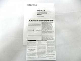 2011 Kenwood KAC M526 2 Channel Power Amplifier 350W