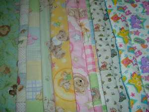 Baby Doll Bedding Blanket & Pillow Bears Homemade NEW
