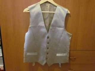 Chaleco hombre ceremonia/boda de seda talla 50, color gris perla y