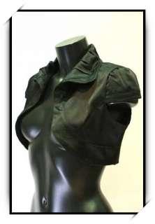 Bolero gilet pr robe bustier soiree T40 VBL1 noir satin
