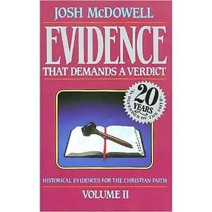 That Demands A Verdict Vol. 2 [Paperback]: Josh McDowell: Books